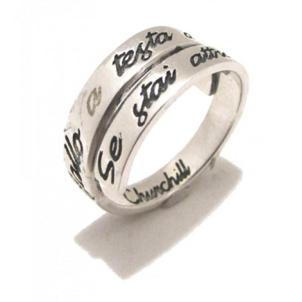 100% di alta qualità elegante nello stile nuovo economico SPADARELLA anello argento 925% AN613 UNISEX INFERNO