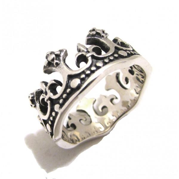 stile romanzo stili di moda migliore selezione di SPADARELLA anello argento 925% AN608 UNISEX CORONA